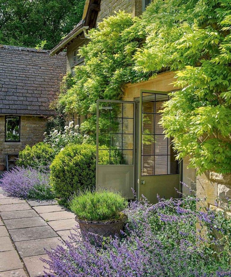 French Country Garden Design Layout: Bold, Bright Colors Bubbling With Joyous Tangles Of All