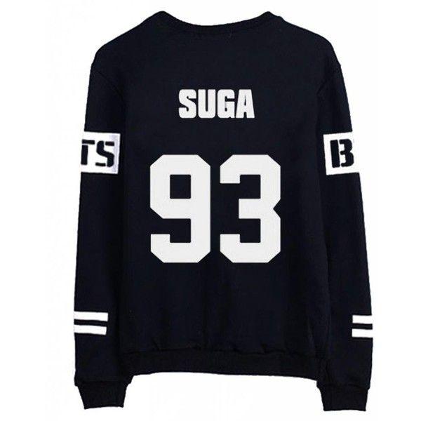Suga Shirt Sweatshirt Kpop Shirt K Jungkook BTS Jersey Suga Jimin Jin Rap Monster Merch Jumper Oversize Tumblr K Drama Korean Fashion y2TXs8Iei