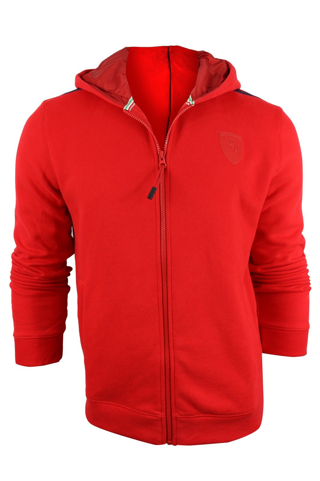 eed249512d4e Puma Men s Red Ferrari Hooded Sweat Jacket