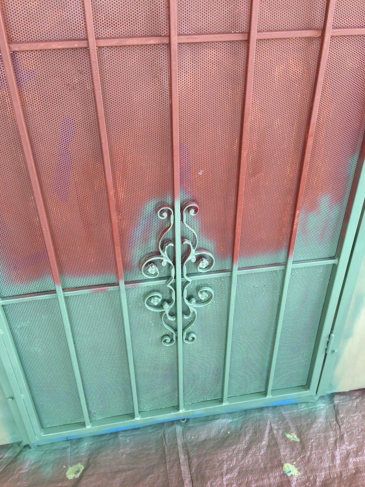 Security Door Makeover; Screen Door DIY; The Sparkly ...