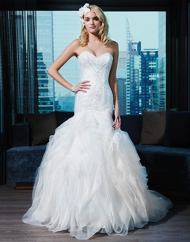 Justin Alexander. Love the top of this dress! | hopeless romantic ...