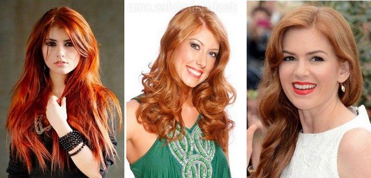 Reddish Cinnamon Hair Color For Fair Skin With Pink