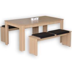 Essgruppen & Tischgruppen Tischgruppe, Sonoma eiche und