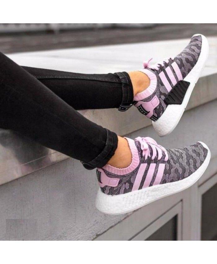 Adidas NMD R2 Womens Primeknit Pink Black | Adidas nmd r2, Adidas ...