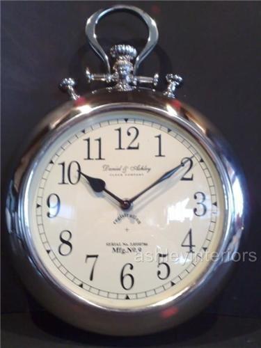 Daniel ashley nickel pocket watch wall clock
