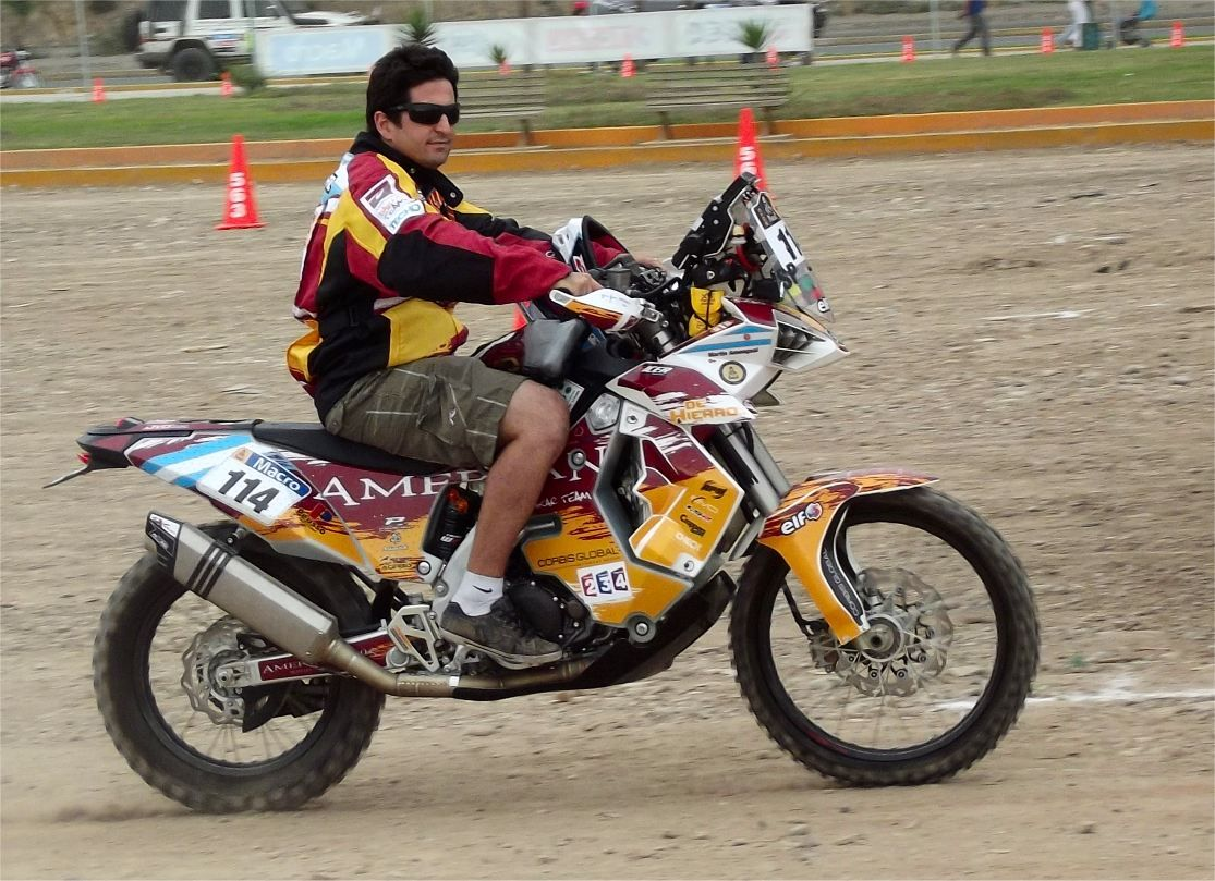 Amengual-Martin from Argentina bike Nr. 114  #Dakar   #Argentinien #Peru