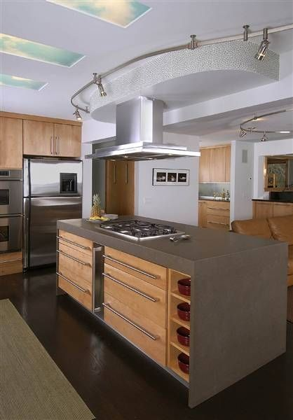 Contemporary Kitchen With Stainless Accents Honed Quartz