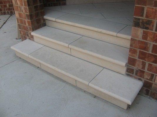 Coping U0026 Stair Treads: Indiana Limestone Bullnosed Treads  Www.earthworksstone.net