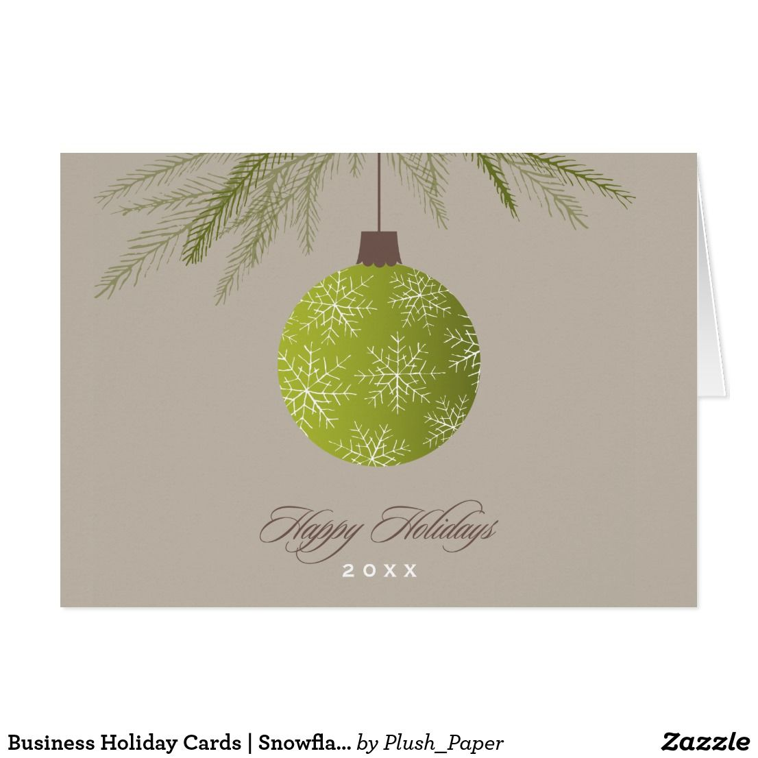 Business Holiday Cards | Snowflake Ornament Design | Business ...