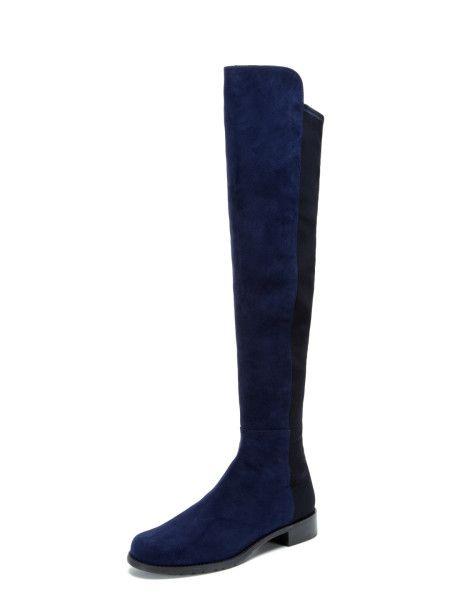 Stuart Weitzman 5050 Boots - Nice Blue Suede