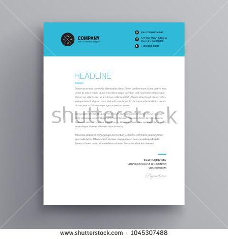 Elegant letterhead / cover letter template design in minimalist
