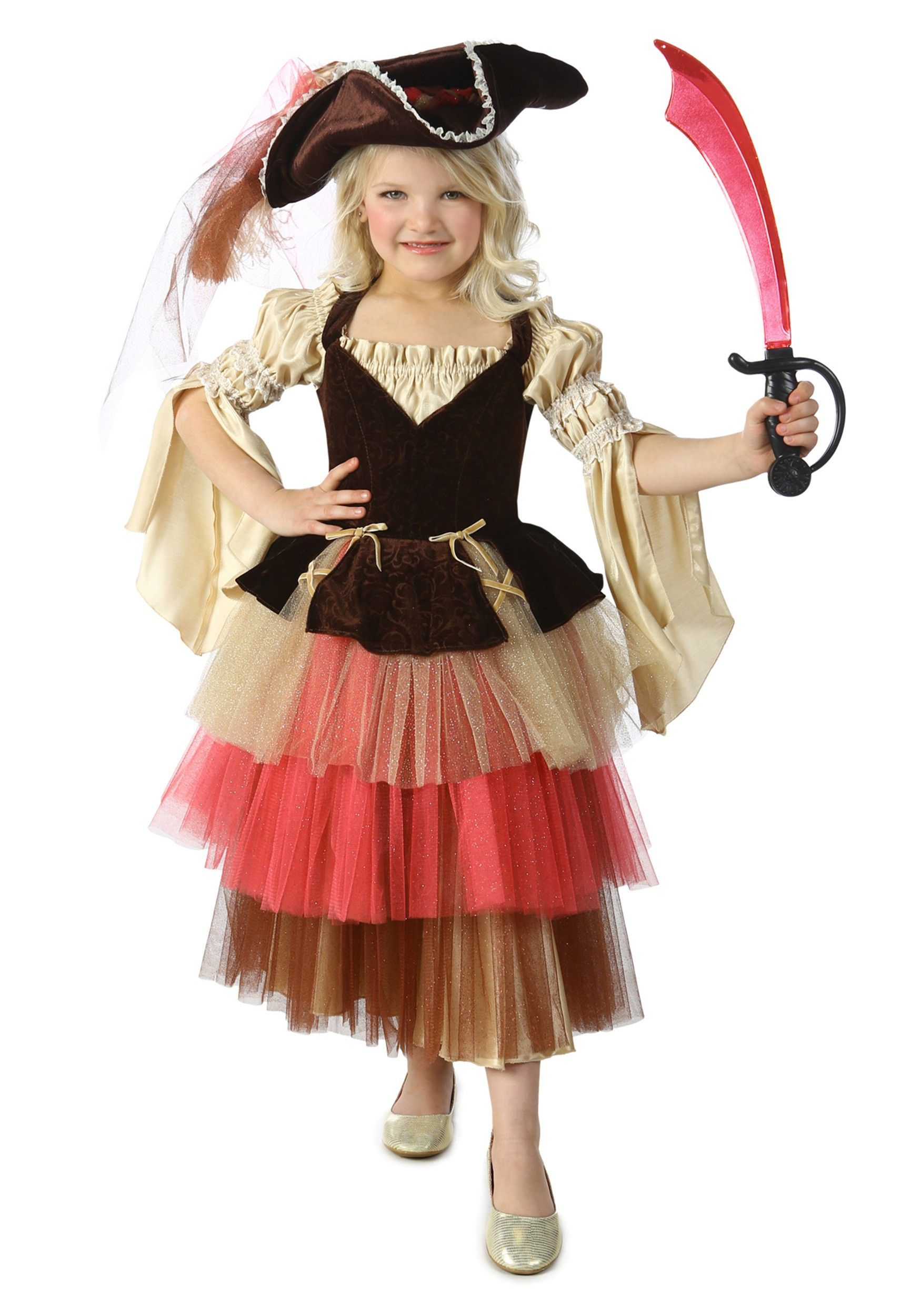 this childs audrey the pirate costume is a super cute look for any creative girl with - Teenage Girl Pirate Halloween Costumes