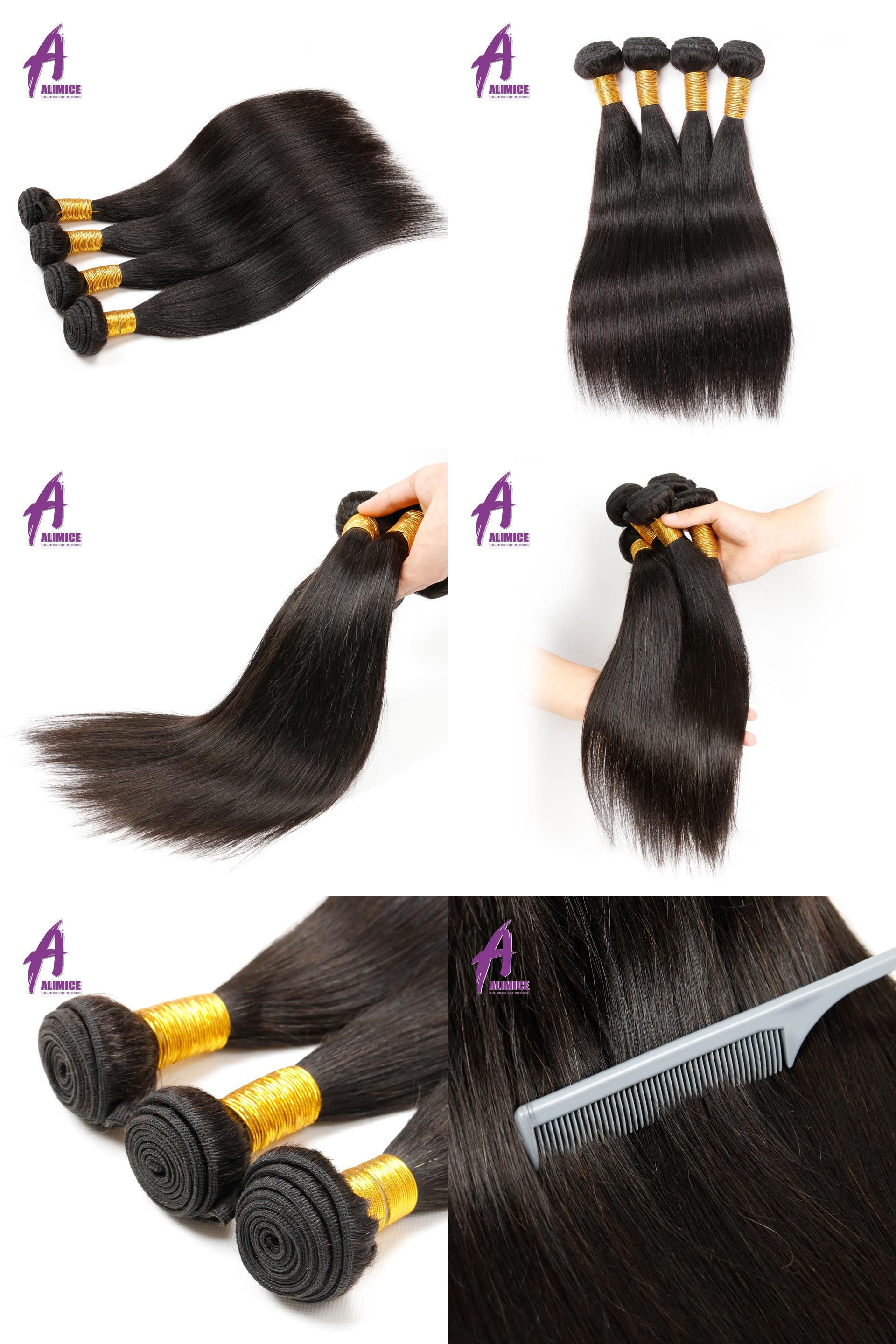 Visit To Buy Alimice Malaysian Straight Hair Weave 100 Human