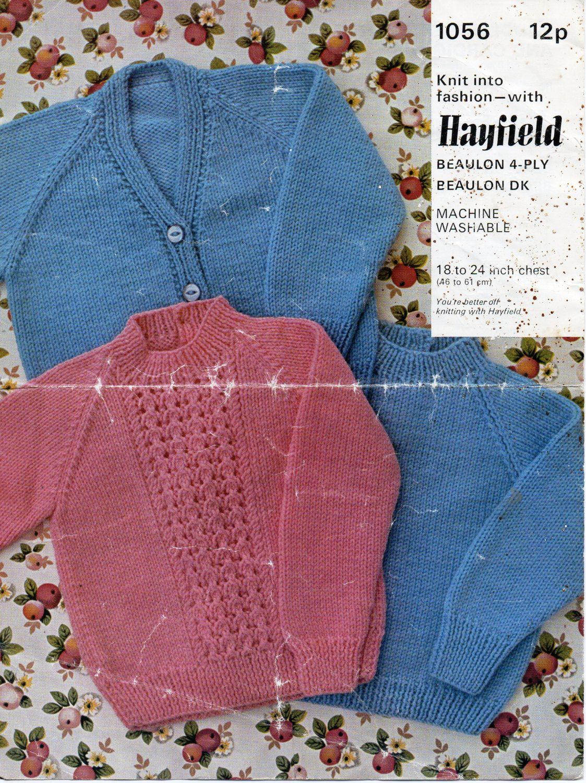 baby cardigan & sweaters knitting pattern PDF DK / 4ply jacket ...