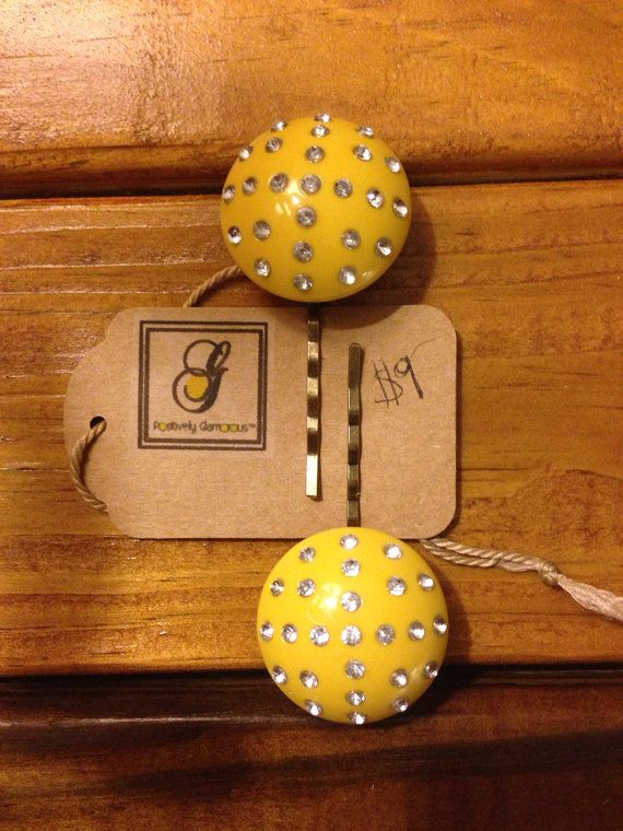 Bright Yellow Vintage Inspired Handmade by PositivelyGlamorous, $9.00
