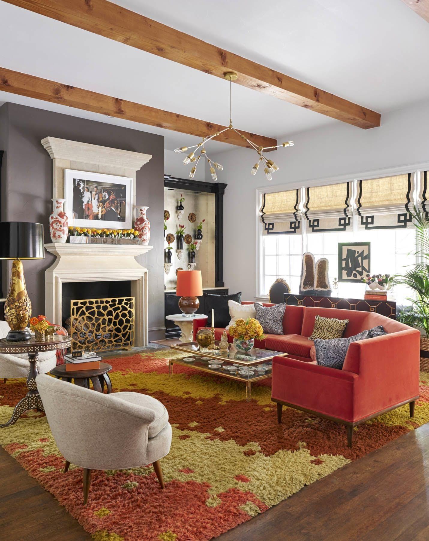 Professional Room Designer: A Jewelry Designer's Color-Rich Dallas Home