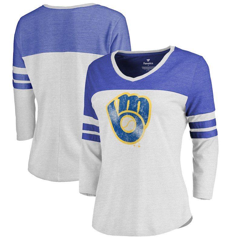 pretty nice 9d73b 6586b Milwaukee Brewers Fanatics Branded Women's Plus Size ...