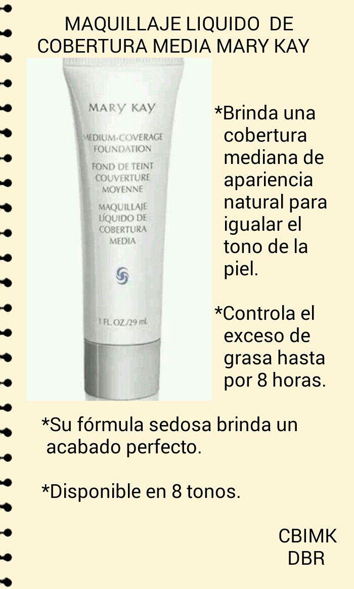 5ca3030db Maquillaje Cobertura Media Mary Kay. Beneficios. | mary kay | Mary ...