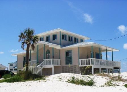 Beach house in Pensacola, sleeps 8. One block from the beach.