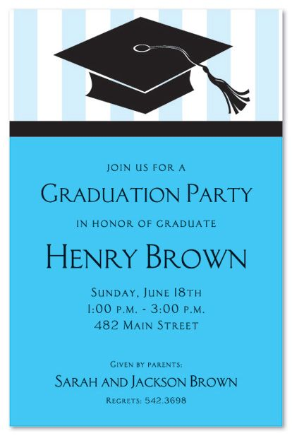 graduation invitations boy - Google Search