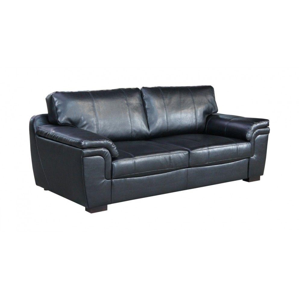 Bonded Leather Three Seater Sofa
