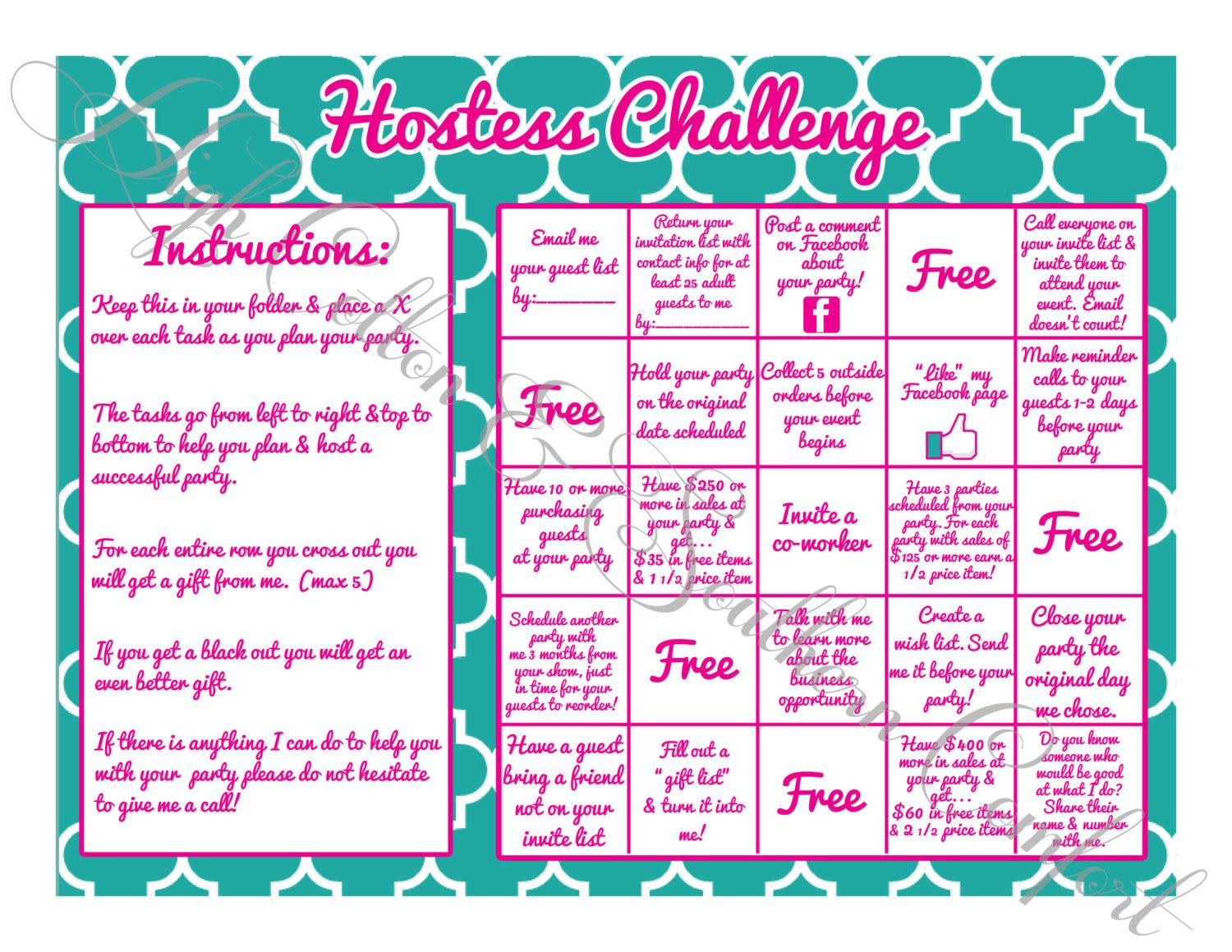 Hostess Challenge Game for Locket Direct by