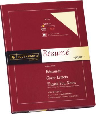 Southworth 8 5 X 11 Resume Paper 24 Lbs Wove 100 Box R14icf Resume Paper Social Stationery
