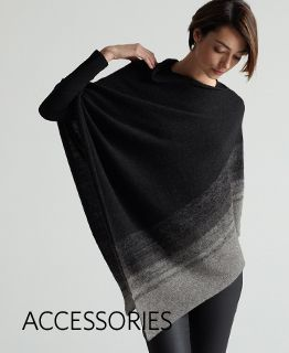 We love this poncho from EILEEN FISHER