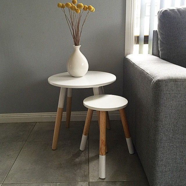 katiemorschel put a kmart side table together with the kids stool ...