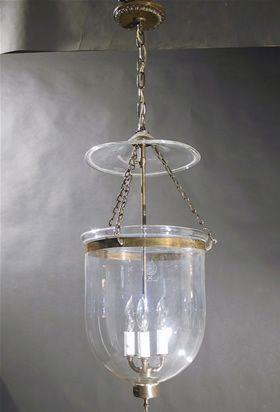 Genuine Antique Lighting Bell Jar Lantern Let There Be