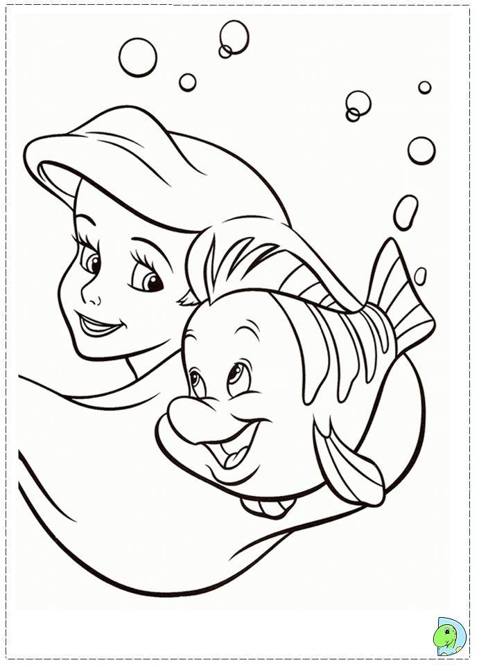 coloriage la petite sirène   >> (1) ċoʟoя mє   Mermaid ...