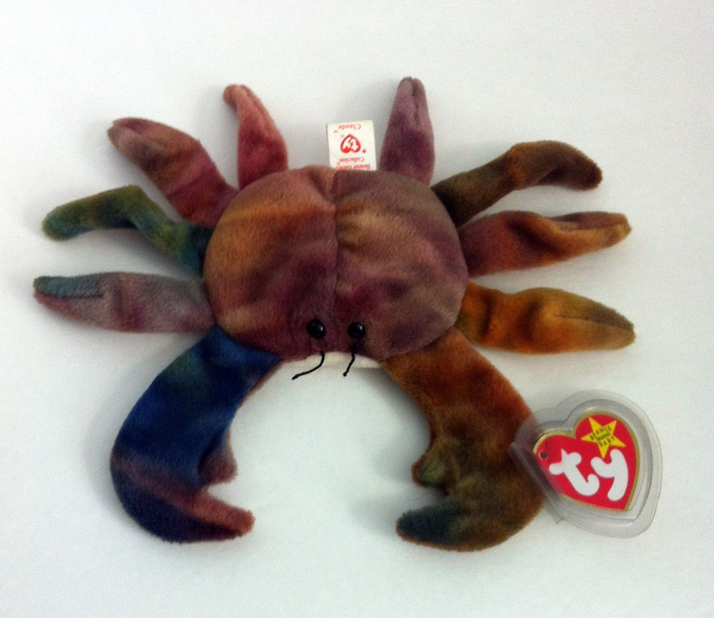 Claude The Crab Ty Beanie Baby Retired Tie Dyed Blue
