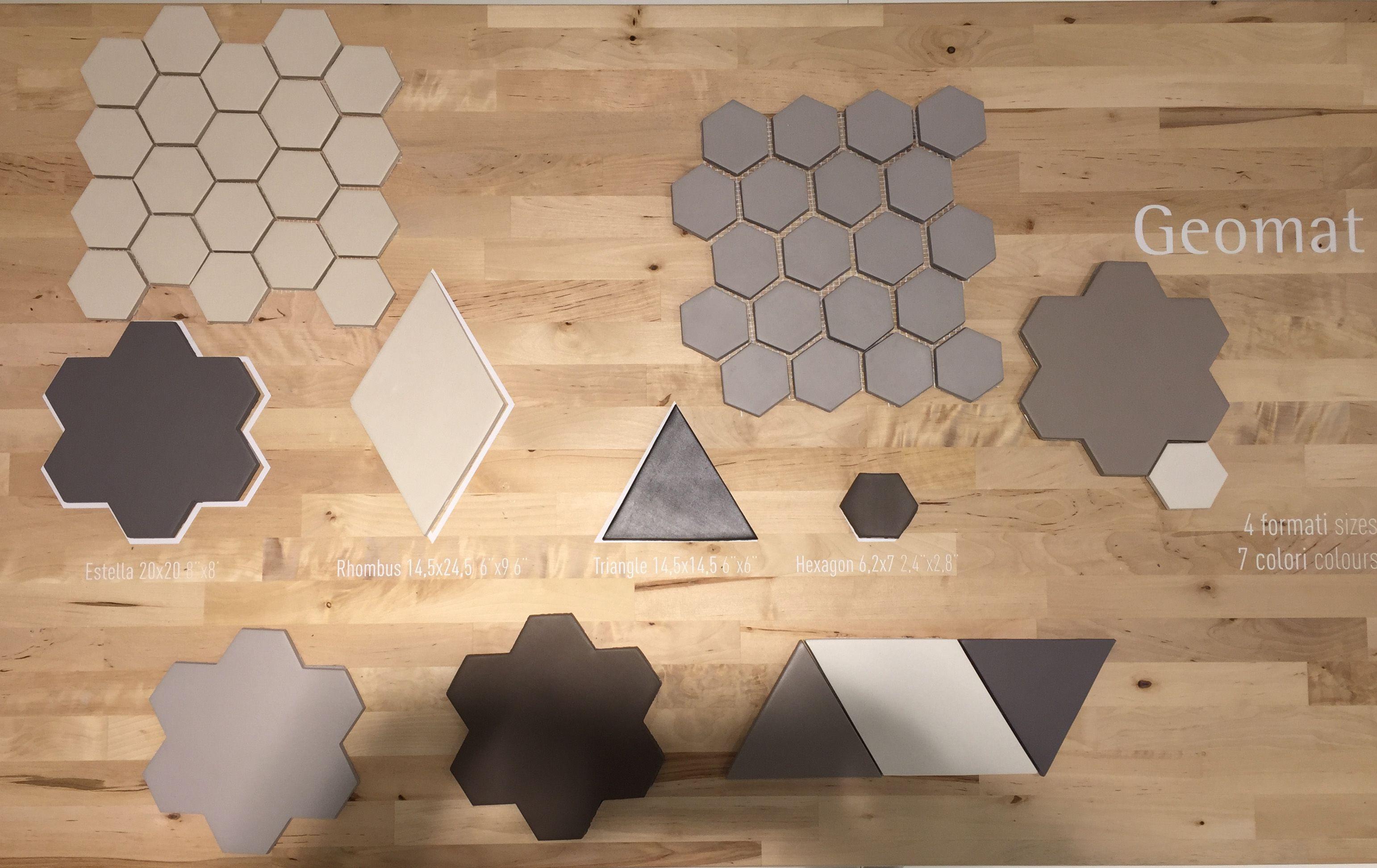 Tonalite cersaie 2015 collezione geomat 7 colori e 4 formati forma