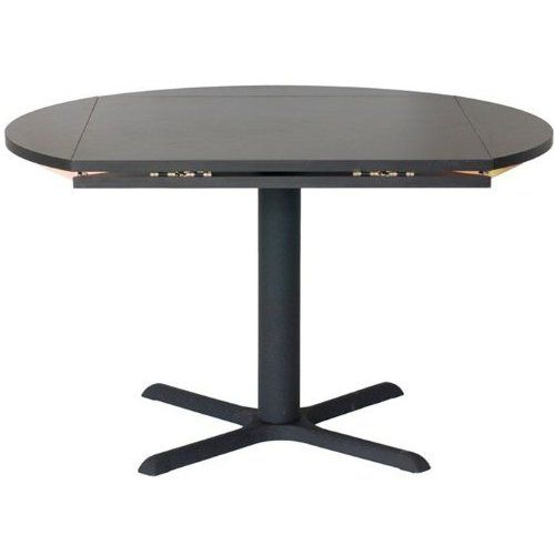 Amazon Com 42 Square X 60 Round Drop Leaf Table Top In Black
