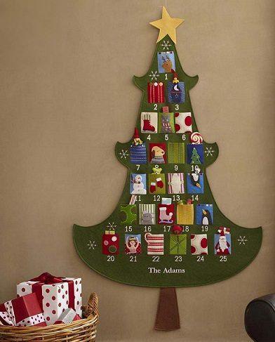 Calendario De Adviento Casero.Calendario De Adviento Casero Hecho Con Fieltro Navidad