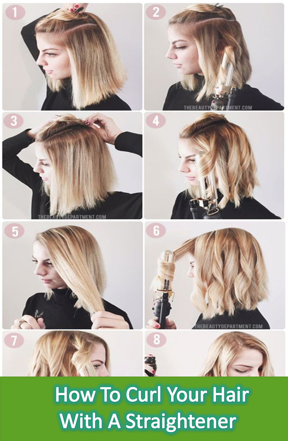If You Are Looking For Some Kind Of Tips Like How To Curl Your Hair With A Straightener This Is A Mega Post Hair Styles Medium Hair Styles Short Hair Styles