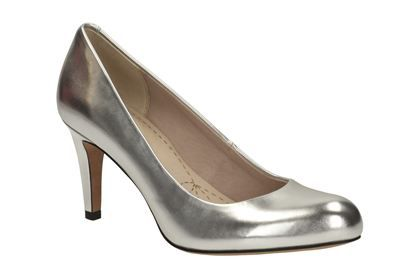 Womens Smart Shoes - Carlita Cove in Silver from Clarks shoes