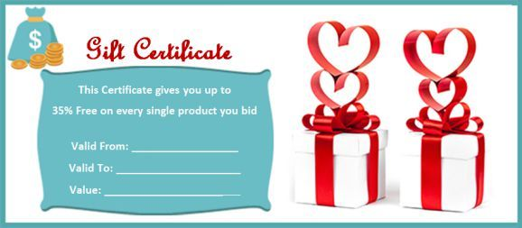 Silent Auction Gift Certificate Sample Silent Auction Gift