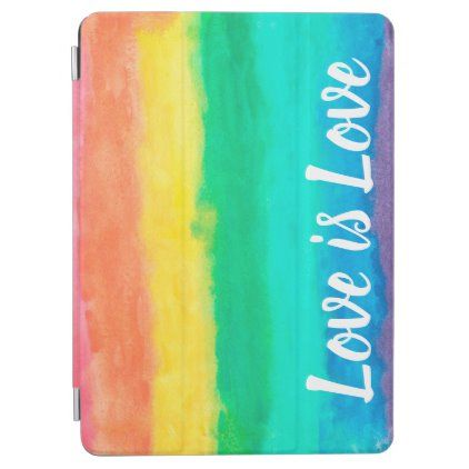 Love is Love Watercolour Pride Colours iPad Air Cover