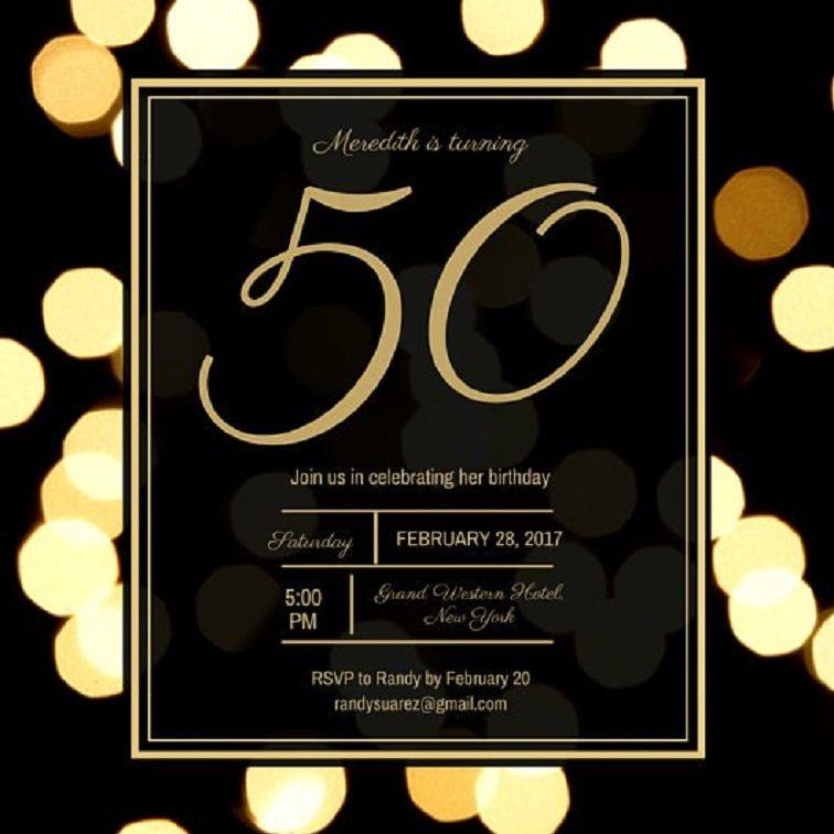 50th birthday invitations templates 50th birthday