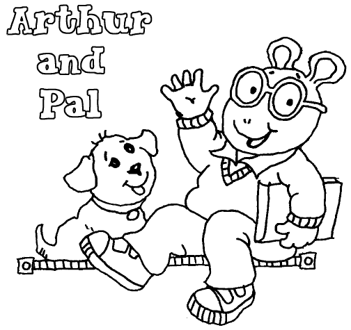 arthur and pal arthur coloring pages pinterest