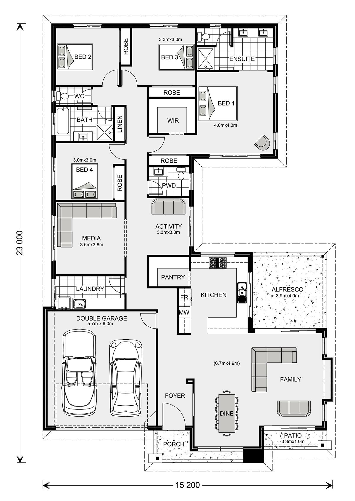 Lakeview 297 Home Designs In G J Gardner Homes House Plans And More New House Plans Dream House Plans