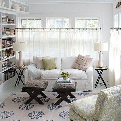 The Case For White Slipcovers Cottage Living Rooms Curtains Living Room Curtains Living Cafe curtains for living room