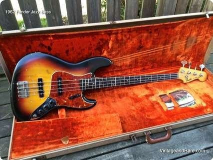 1962 Fender Jazz Bass Original Jazz Bass From Nov 62 Stamped In Ink At Neck End Original Frets And Covers Weight 4 1 Kg Fender Jazz Bass Fender Jazz Guitar
