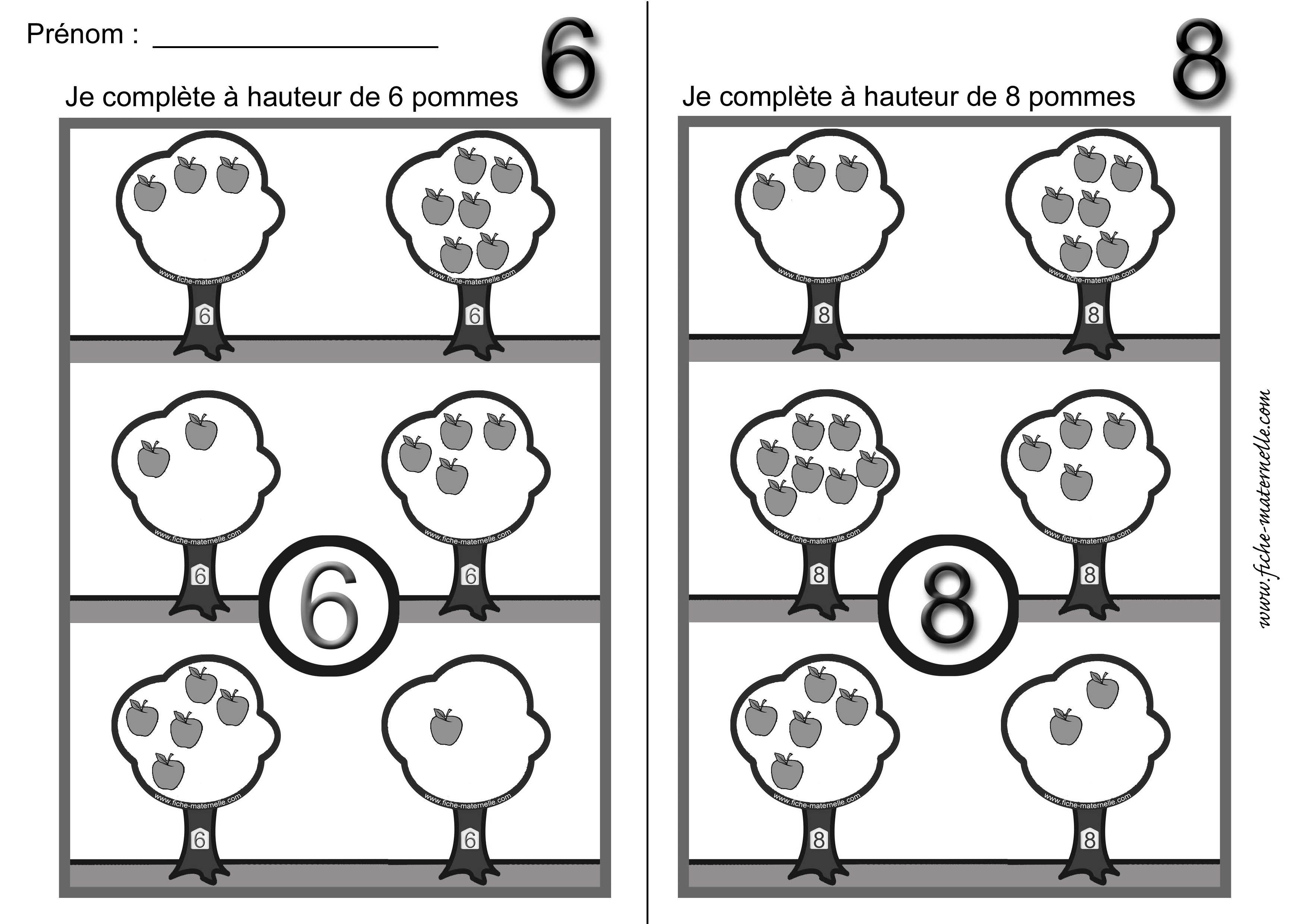 Decomposition Du Nombre Et Complements En Maternelle