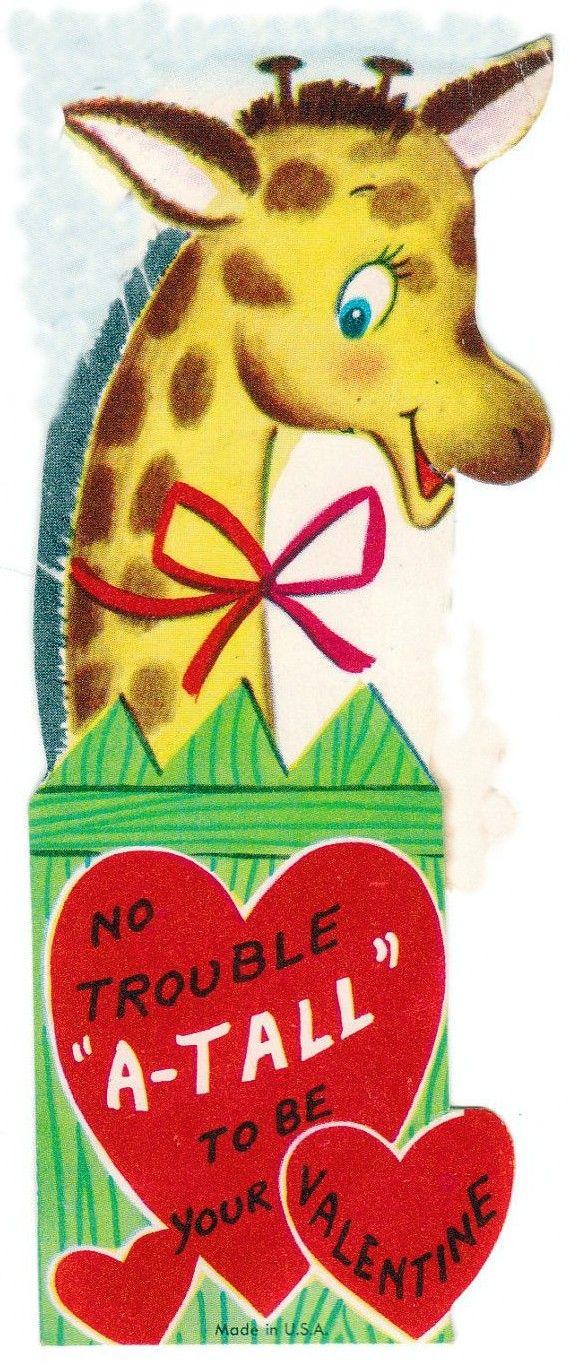Giraffe Vintage Valentine Cards Giraffes Pinterest - 8 funny valentines cards for single people