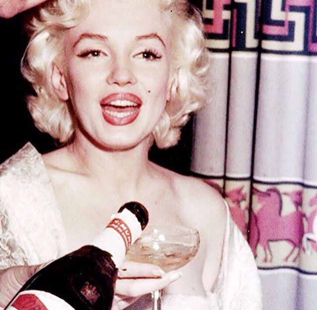 Marilyn and some champagne