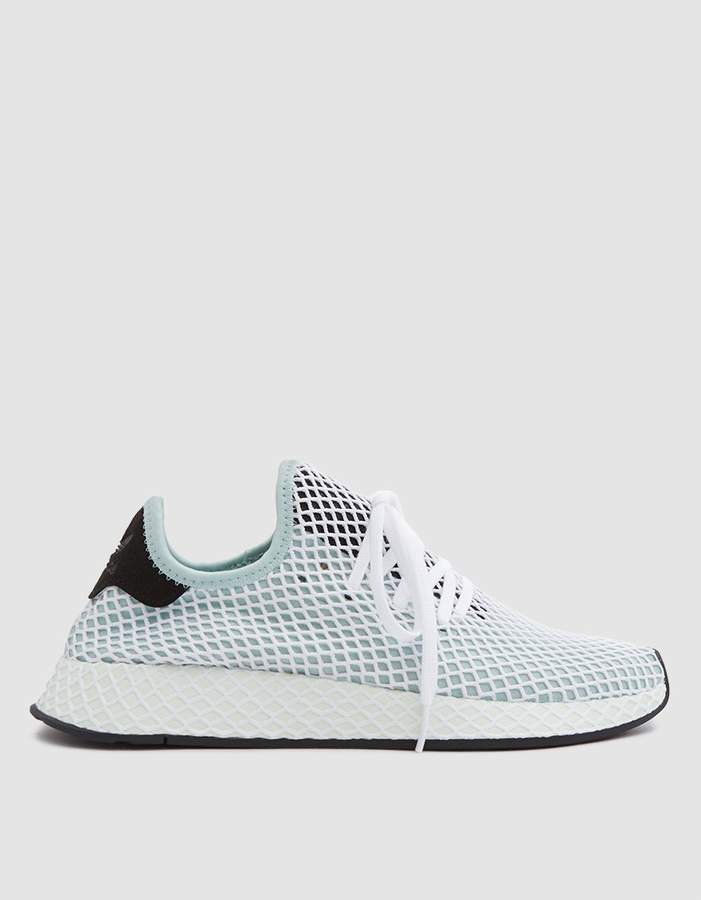 f91379008 Adidas   Deerupt Runner in Ash Green
