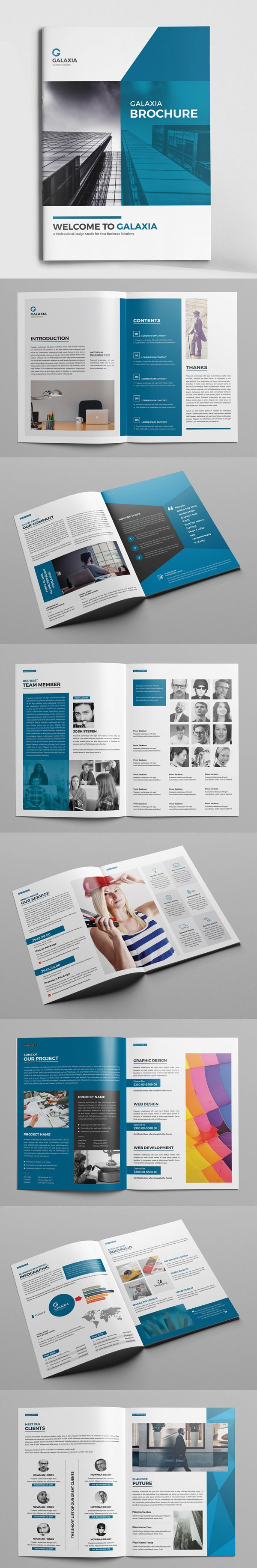 Modern Business Brochure Template | Print Ready Designs | Pinterest ...