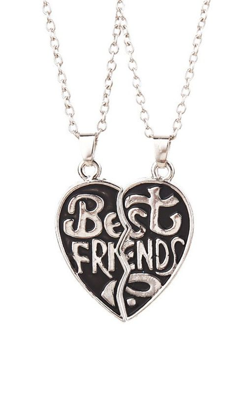 Best Friend Necklace Long Chain Friendship Witness Friend Necklaces Bff Jewelry Best Friend Necklaces